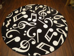 133CMX133CM MUSIC BLACK RUGS/MATS HOME/SCHOOL EDUCATIONAL NON SILP BEST SELLERS